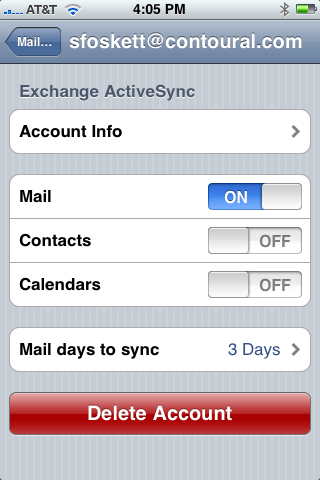 how to delete old email account on iphone