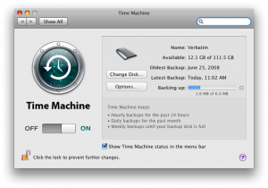 Uh oh, after this backup I'll only have a few GB left on my Time Machine backup drive!