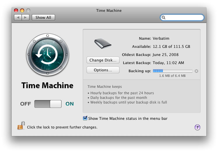mac time machine restore not enough space