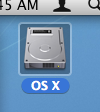 The default icon for an internal disk drive in OS X isn't exactly clean and friendly