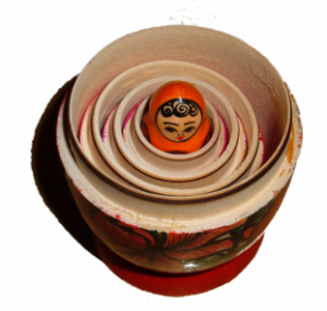Based on Floral Matryoshka by BrokenSphere/Wikimedia Commons