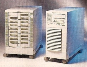 Data General paired the CLARiiON (left) with their AViiON server