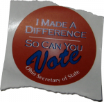 Ohio election sticker