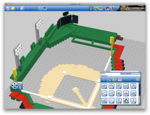 Lego Digital Designer allowed me to select from a good assortment of pieces and build my model