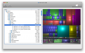 Disk Inventory X is an amazing tool to zoom into your full disk and figure out what's taking up all the space!