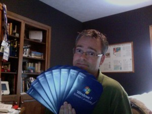 Windows 7 RC literally hit home for me today. Seriously! Eight DVD copies of Windows 7 RC (32-bit) arrived in a FedEx from One Microsoft Way!