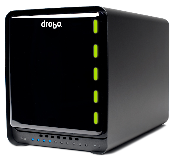 """The """"S"""" in Drobo S stands for """"speed"""" with eSATA, an extra drive, and more-powerful internals"""
