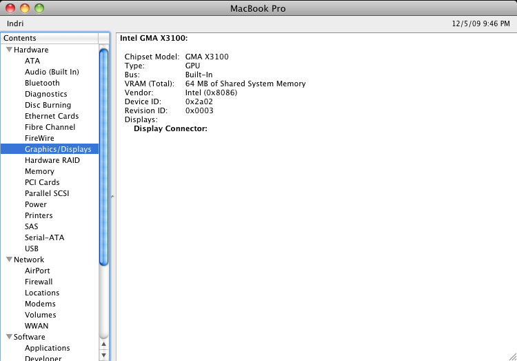 Not Good: My MacBook Pro's nVidia 8600M Video Failed