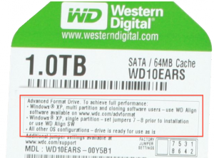 "Western Digital is first to market with ""Advanced Format"" 4K-sector drives"