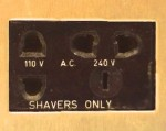 "What is a ""Shavers Only"" Electrical Outlet?"