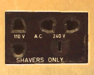 What Is A Quot Shavers Only Quot Electrical Outlet Stephen