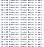 mdworker: (Warning) Import: Bad path: