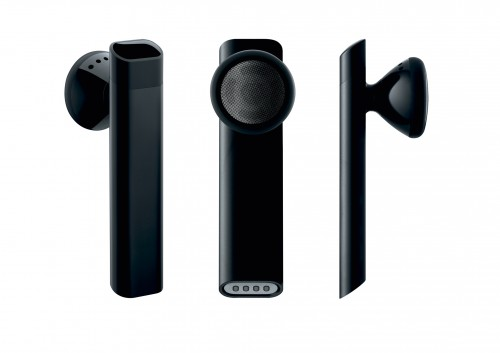 Apple's own Bluetooth Headset featured a battery meter in the iPhone OS and a special charging cable and dock