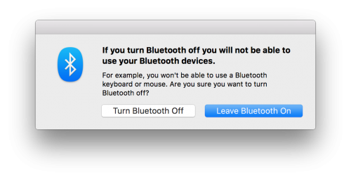 How can you turn Bluetooth back on when you can't use your Bluetooth mouse or trackpad?